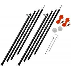 Adjustable Steel King Poles 180-220cm - 2017