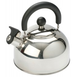 2L Stainless Steel kettle with folding handle Silver - 2014