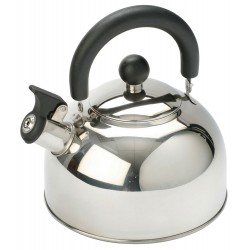 2L Stainless Steel kettle with folding handle Silver - 2017